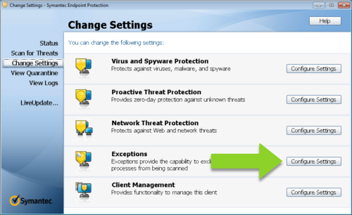 Add Mozenda as an Exception in Symantec_Image2