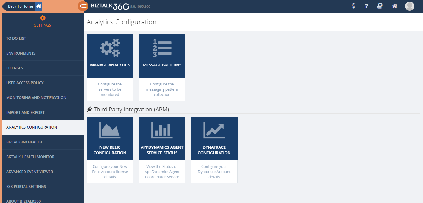 Analytics Configuration