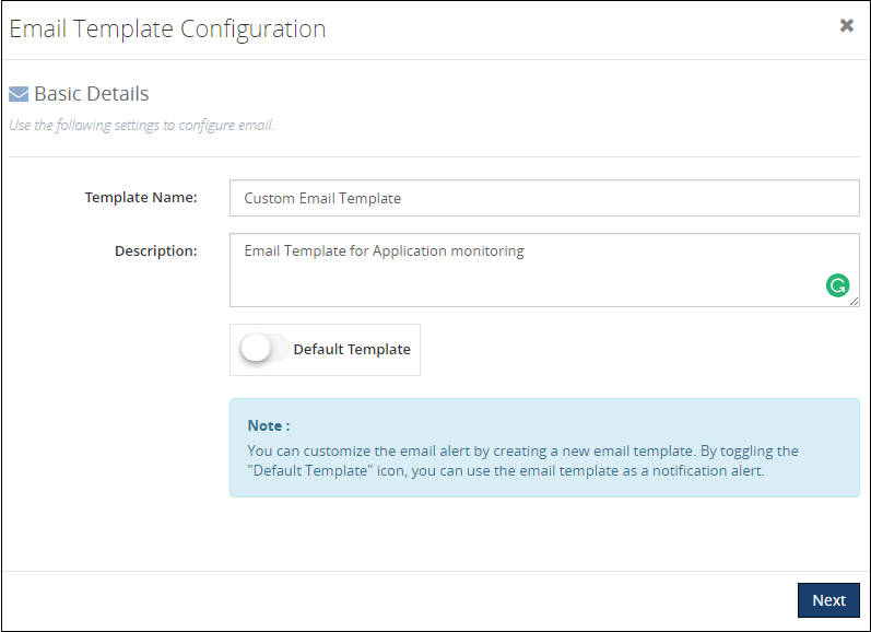 Email Templates Monitoring General
