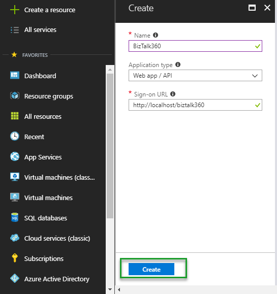 Adding an Azure subscription to BizTalk360 - Azure Management