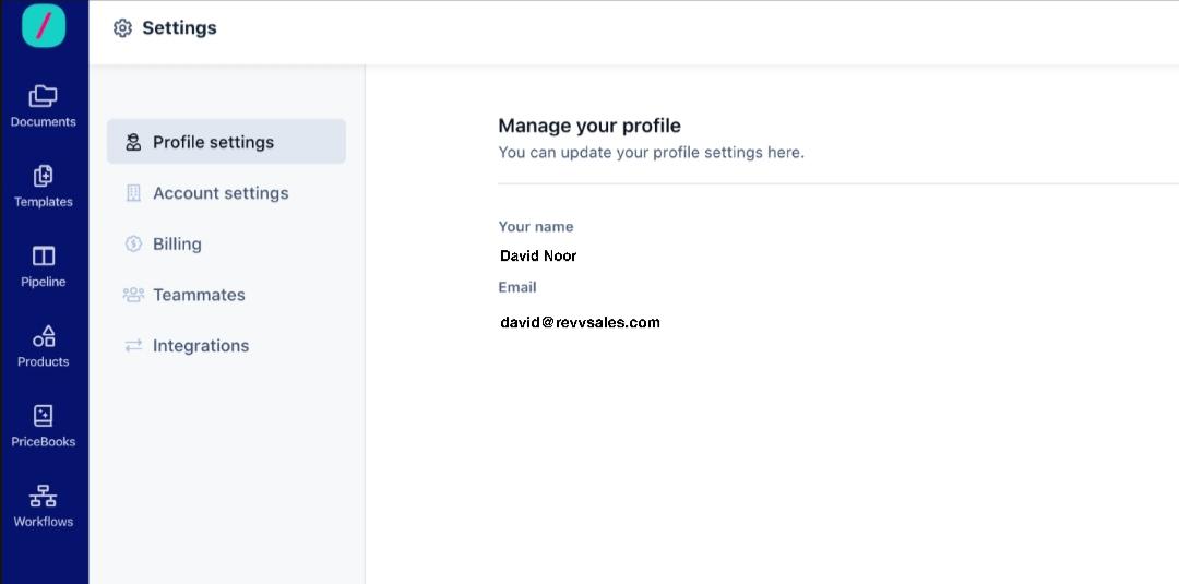 Revv configure your settings