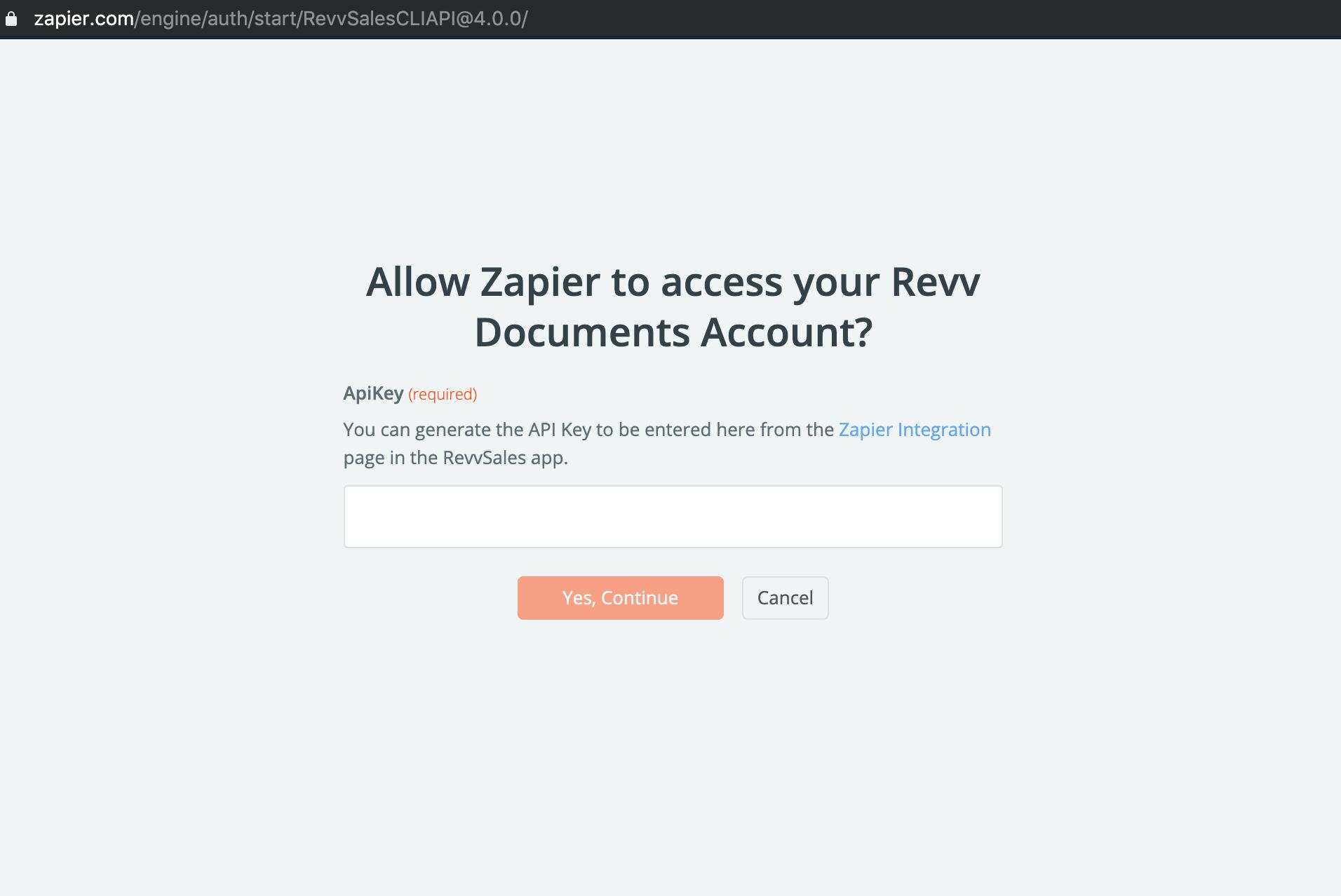 Revv Zapier API