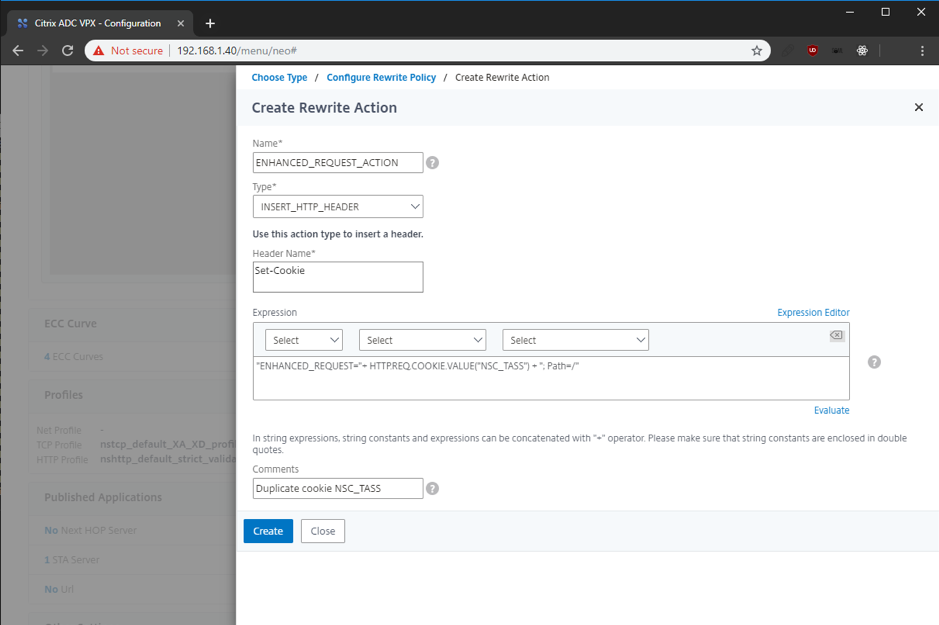 Appendix 3: Add enhanced request support to Netscaler