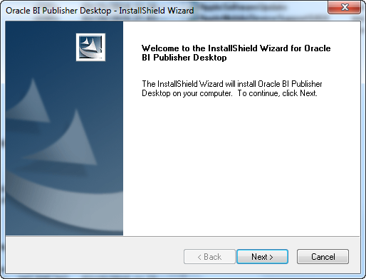 Oracle BI Publisher Desktop - Applications