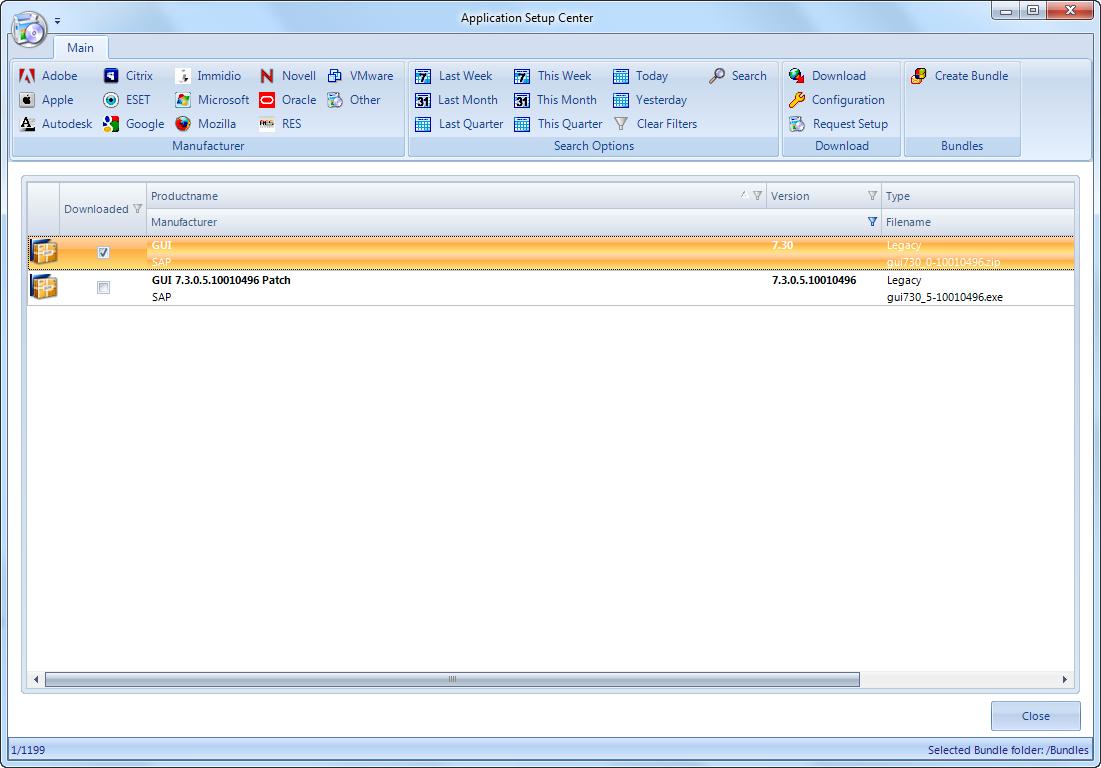 SAP GUI for Windows - Applications