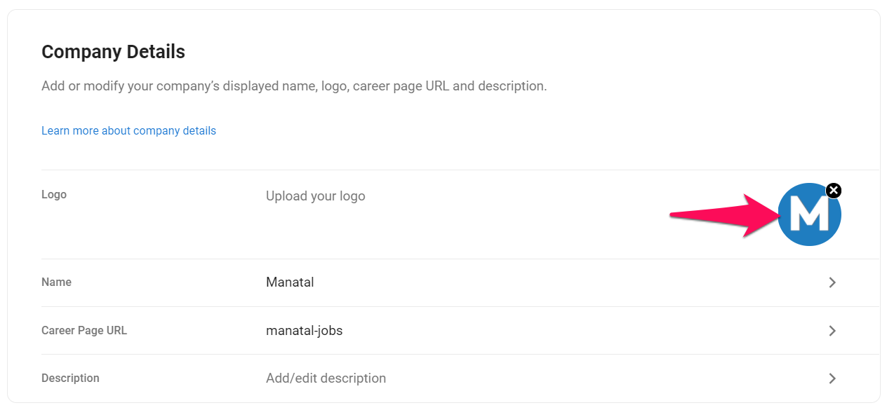 Career Page General Settings 1