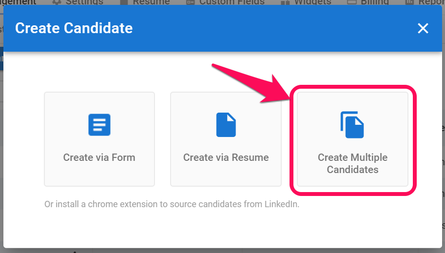 Creating a Candidate bis 4