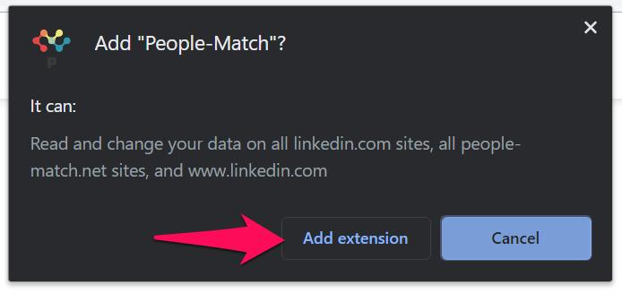 Install LinkedIn Extension 9(1)