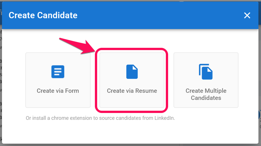 creating your first candidate 2