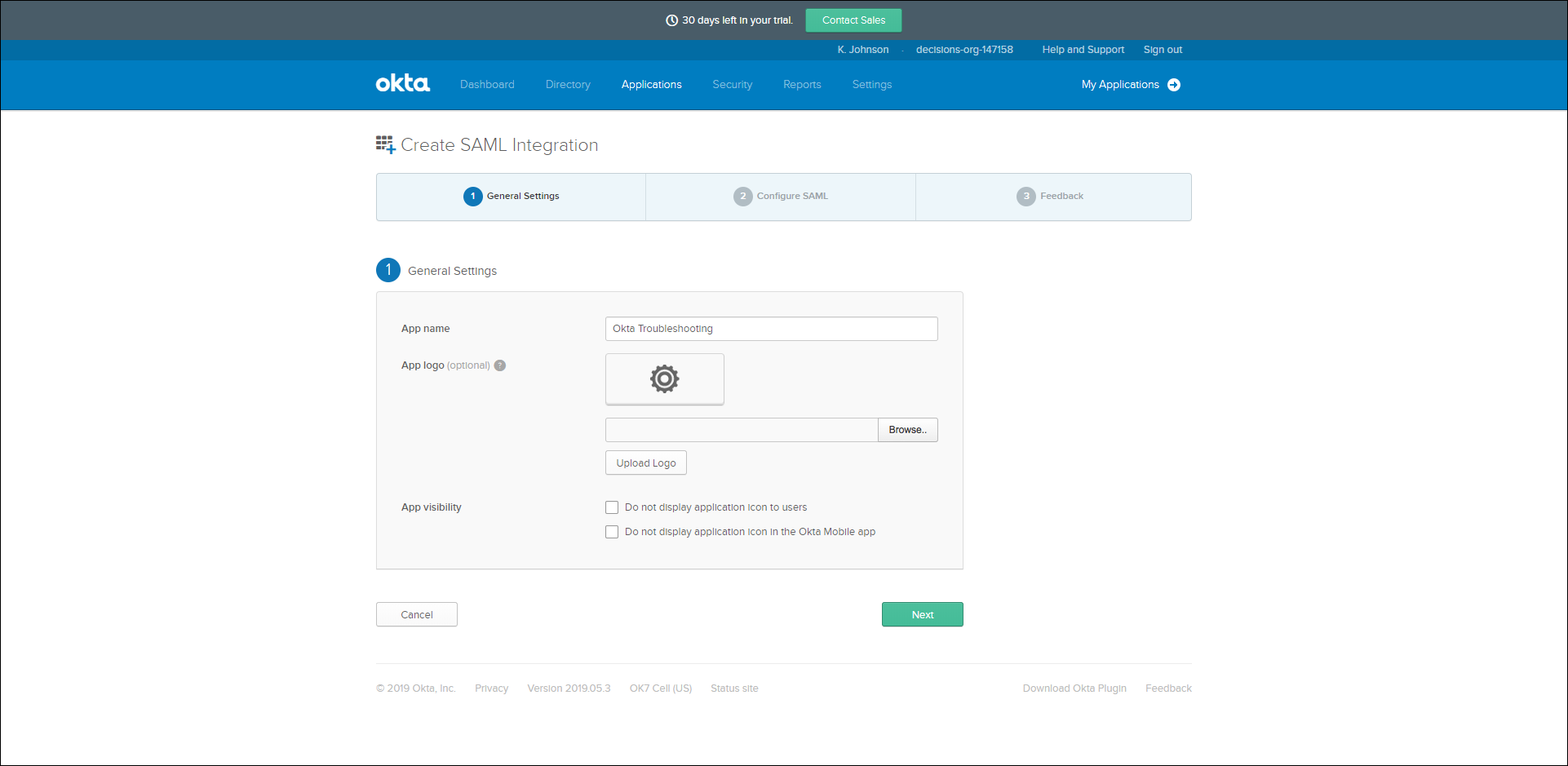 Okta Integration Troubleshooting - Modules integrations