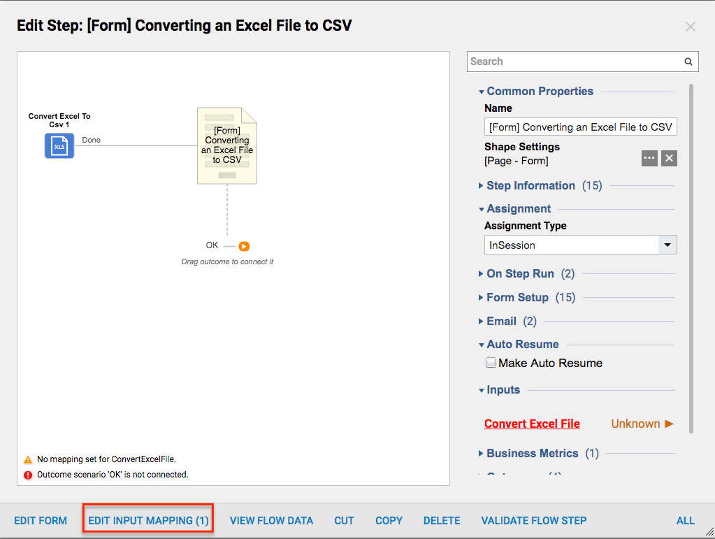 Converting an Excel File to CSV - Files