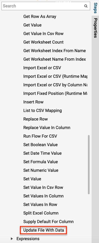 Using Split Excel Column Step - Files