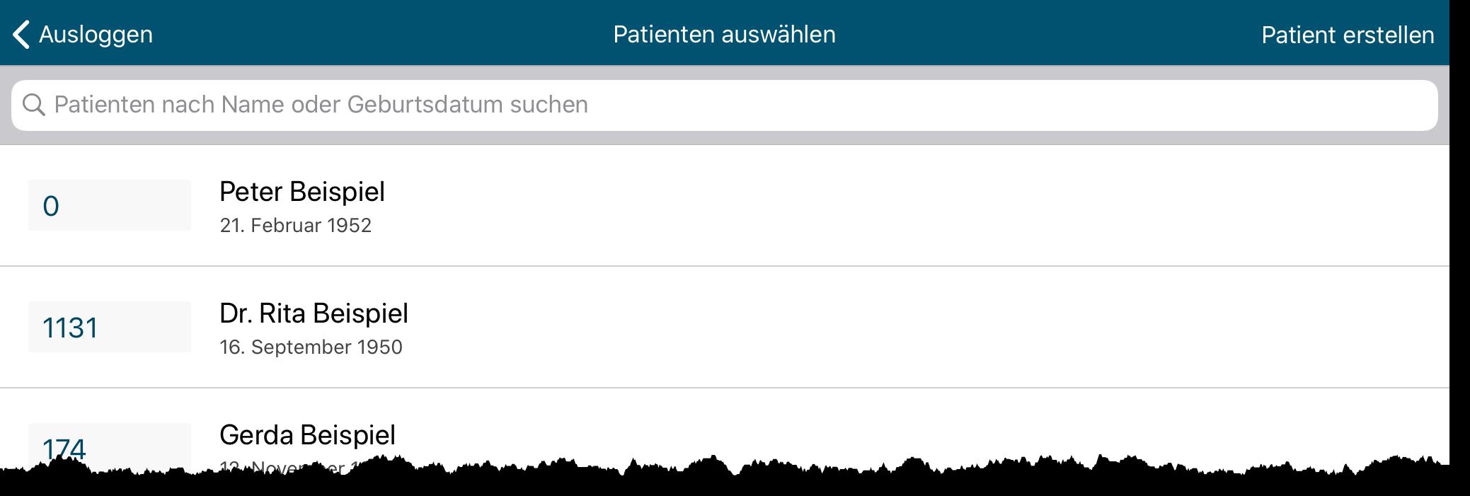 Athena-Patientenliste