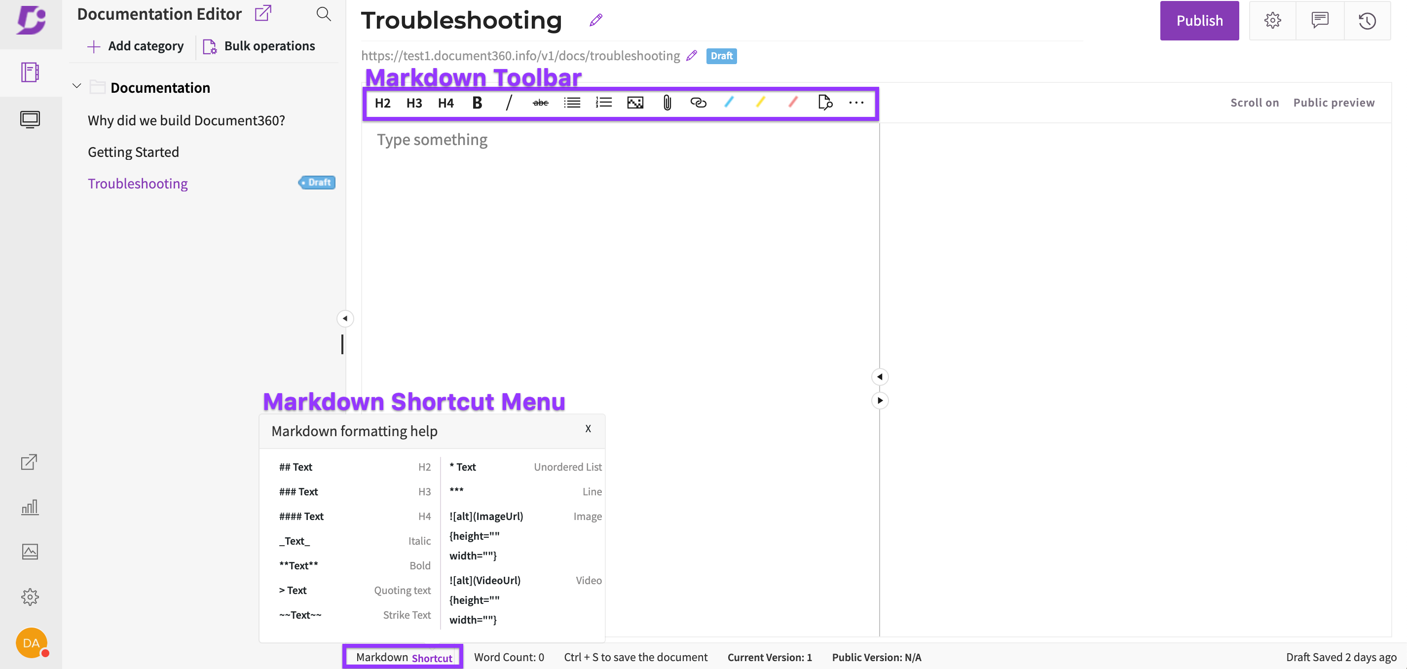 Markdown Toolbar and Shortcut Menu(1)