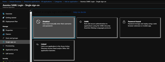 Example: SAML Based Authentication with Microsoft Azure Active