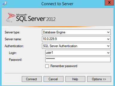Microsoft SQL Server - Connecting Adapters
