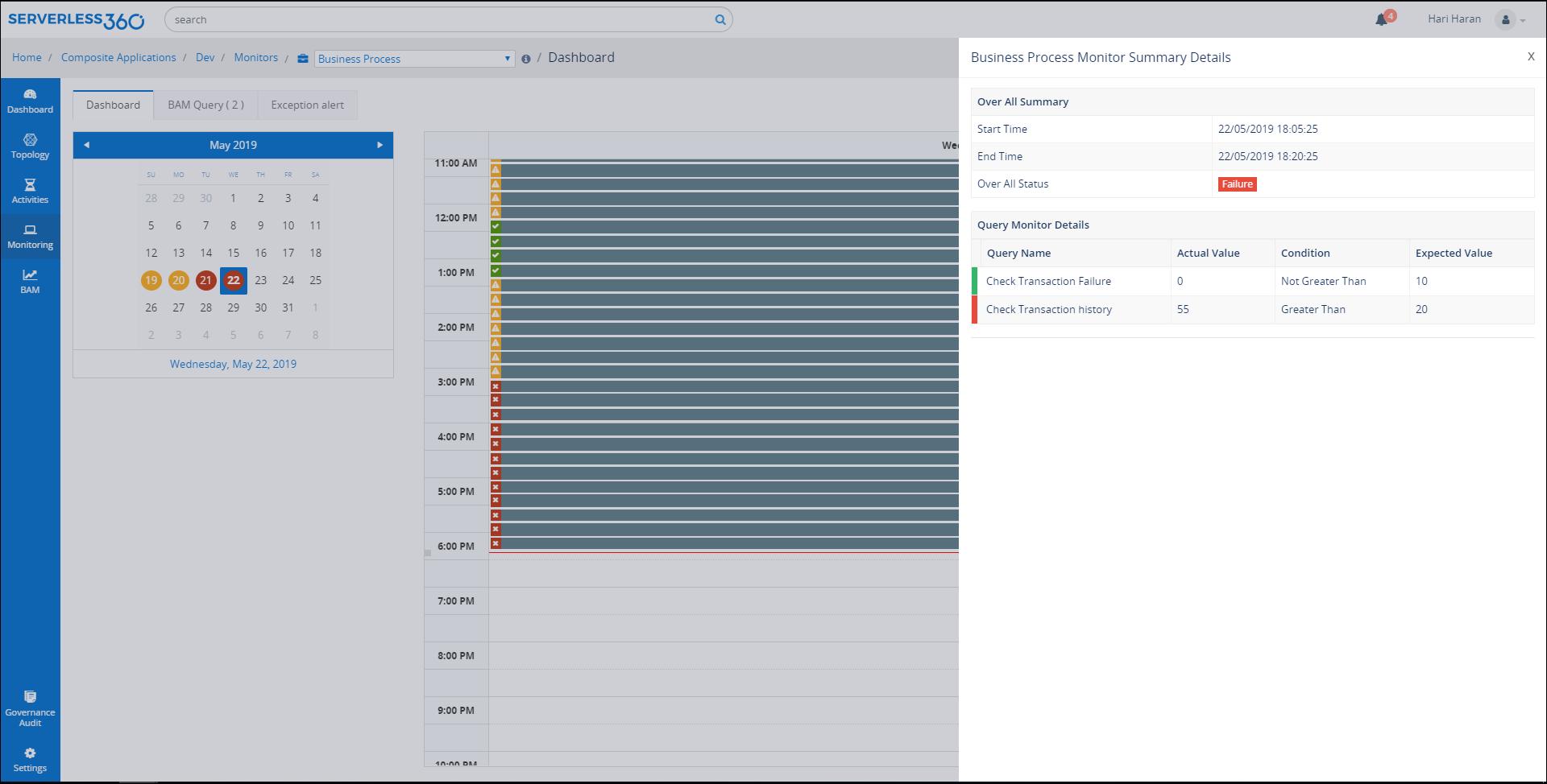 Bam query monitoring blade