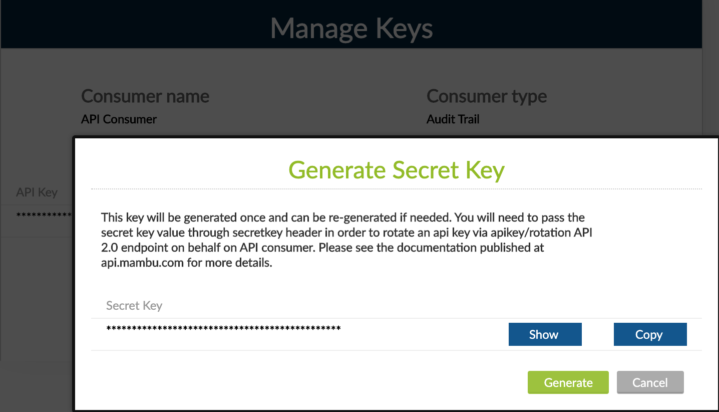 02 - API Key Rotation - Generate Secret Key