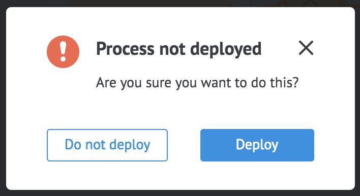 process not deployed window