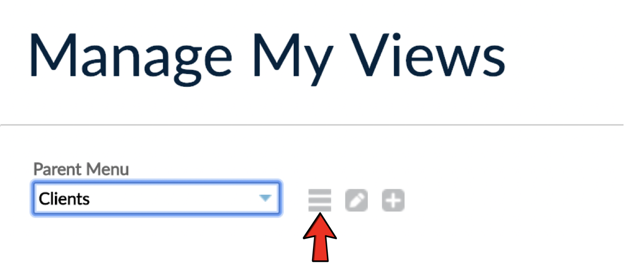 Arrange button from Manage My Views screen