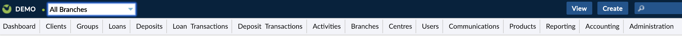 All Branches dropdown