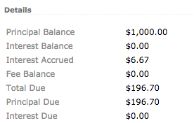 Accrued Interest with $300 balance in offset account