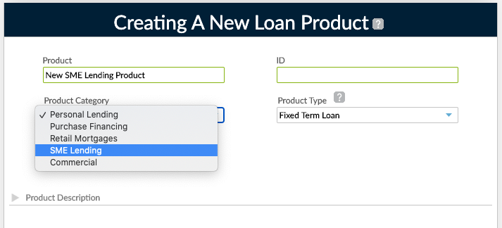 New Loan Product w Category