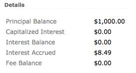 accrued interest with zero redraw balance