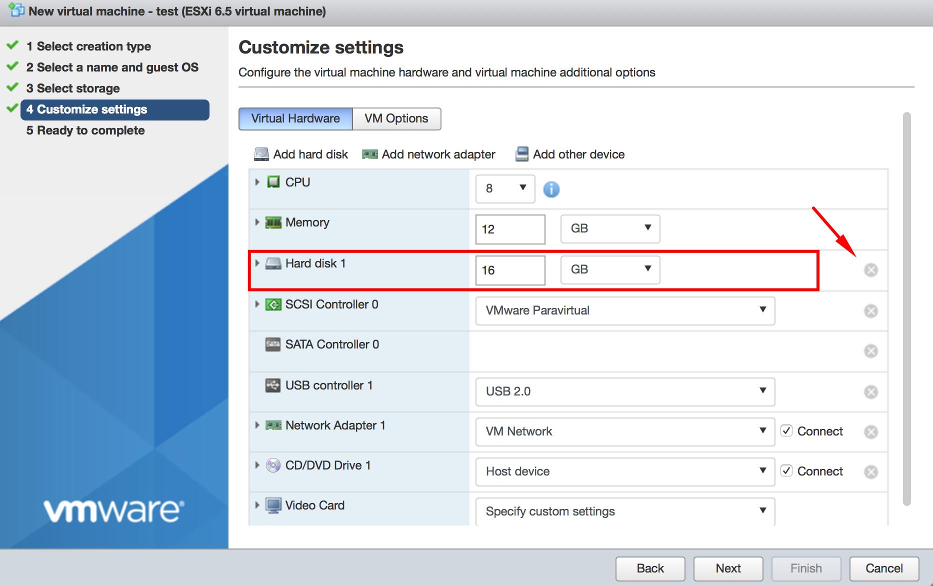 Customize settings 1