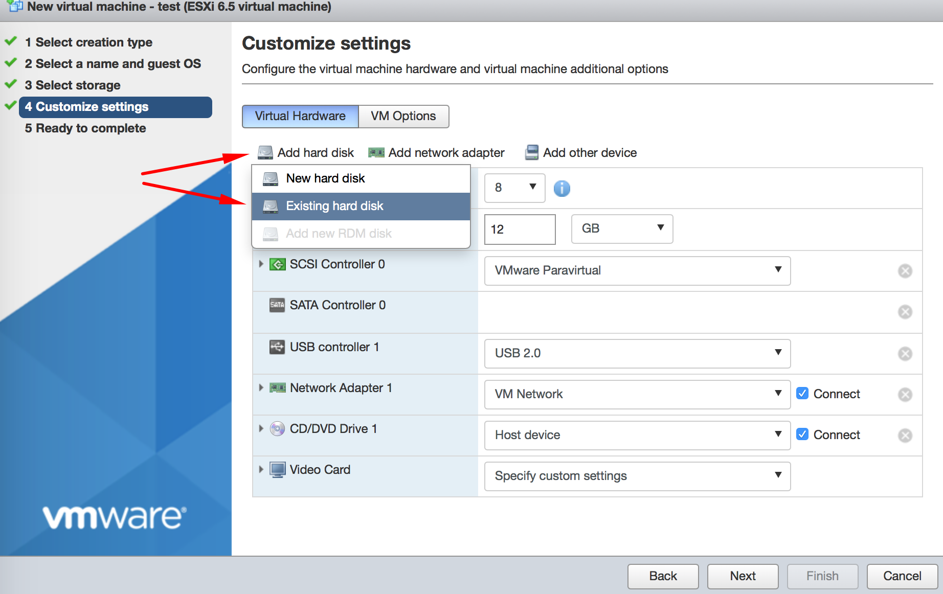 Customize settings 2