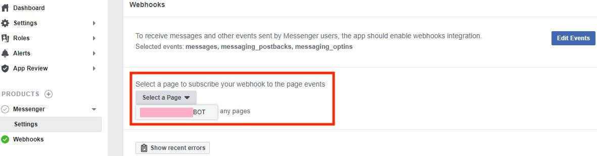 facebook-webhooks-select-page