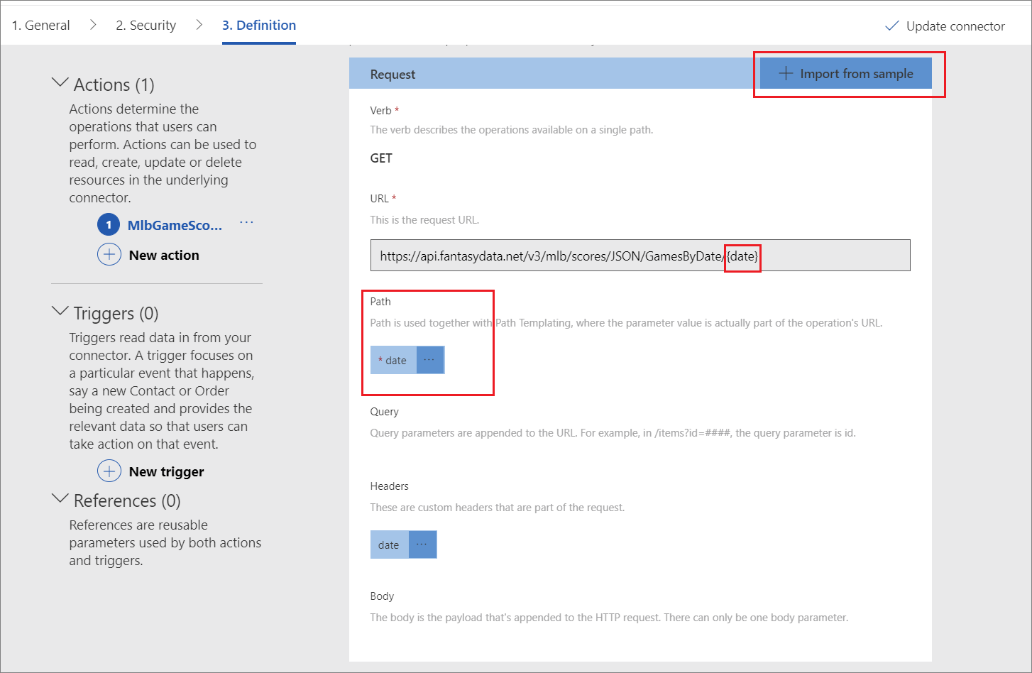 Create a Custom Connector from Postman Collection - Azure