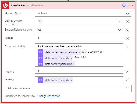 Log Azure alerts in ServiceNow using Azure Logic Apps - Azure Logic Apps