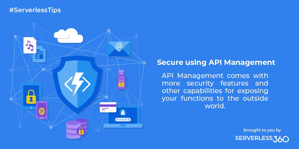 Secure Using API Management   Serverless Notes