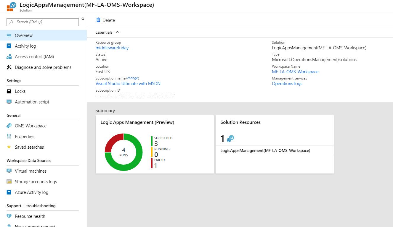 Insights using Log Analytics - Azure Logic Apps
